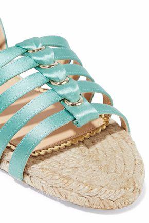 CHARLOTTE OLYMPIA Cutout silk-satin espadrille sandals