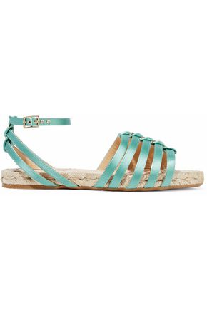 CHARLOTTE OLYMPIA Cutout silk-satin espadrille sandals