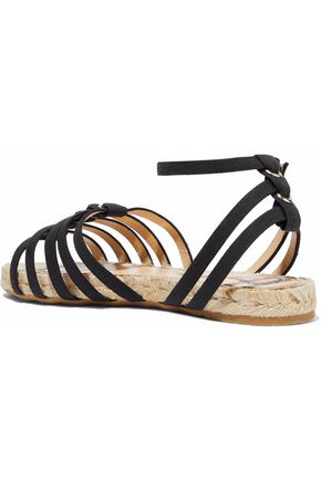 CHARLOTTE OLYMPIA Cutout canvas espadrille sandals