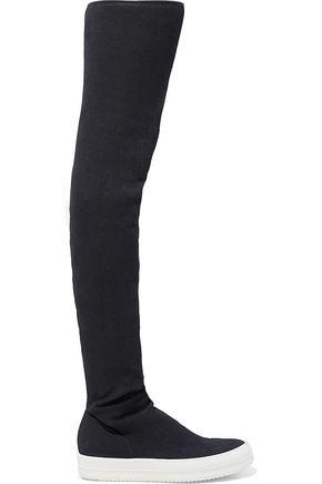 DRKSHDW by RICK OWENS Stretch-denim thigh boots