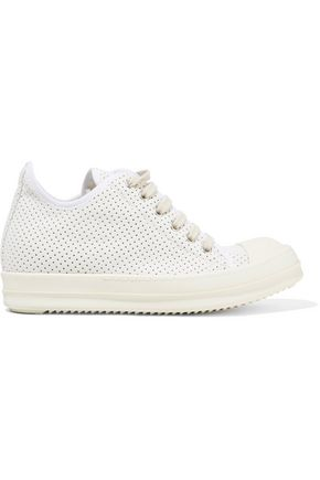 DRKSHDW by RICK OWENS Perforated neoprene high-top sneakers