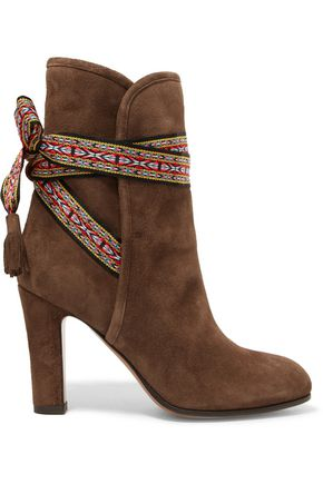 ETRO Bow-detailed suede ankle boots