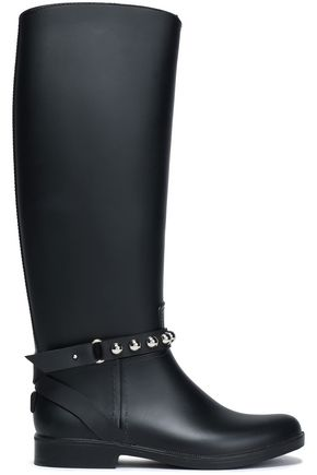 RED(V) Studded rubber boots