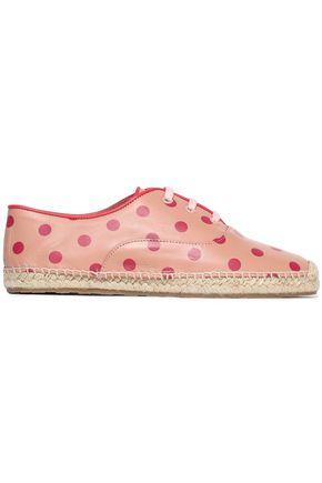 RED(V) Polka-dot leather espadrilles