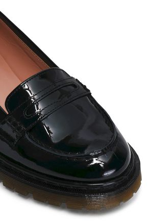 RED(V) Patent-leather loafers