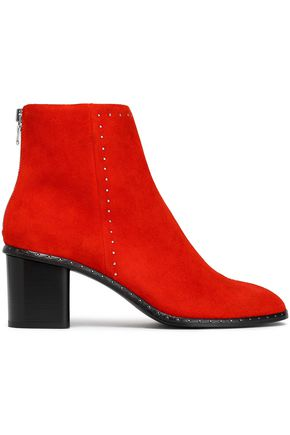 RAG & BONE Studded suede ankle boots