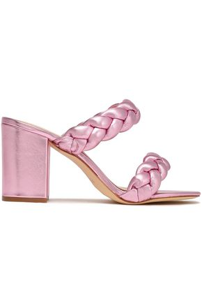 RACHEL ZOE Demi braided metallic leather sandals