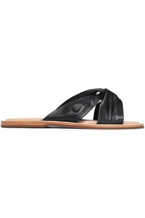 RACHEL ZOE Hampton twisted leather slides