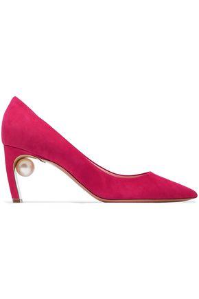 NICHOLAS KIRKWOOD Mira embellished suede pumps