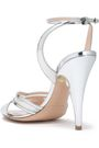 NICHOLAS KIRKWOOD Mesh-trimmed embellished mirrored-leather sandals