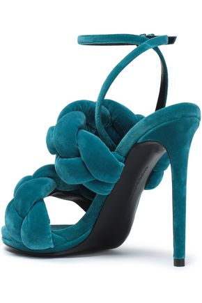 MARCO DE VINCENZO Braided velvet sandals