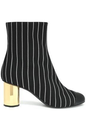 MARCO DE VINCENZO Coated canvas ankle boots