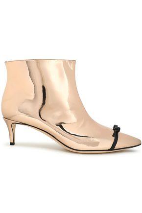 MARCO DE VINCENZO Metallic leather ankle boots