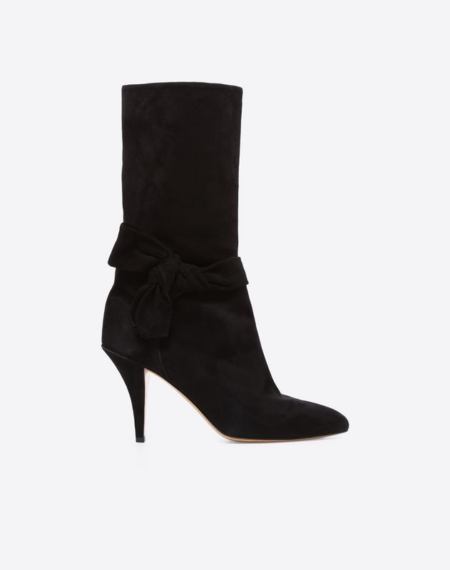 Suede Side-Bow Boot 80mm