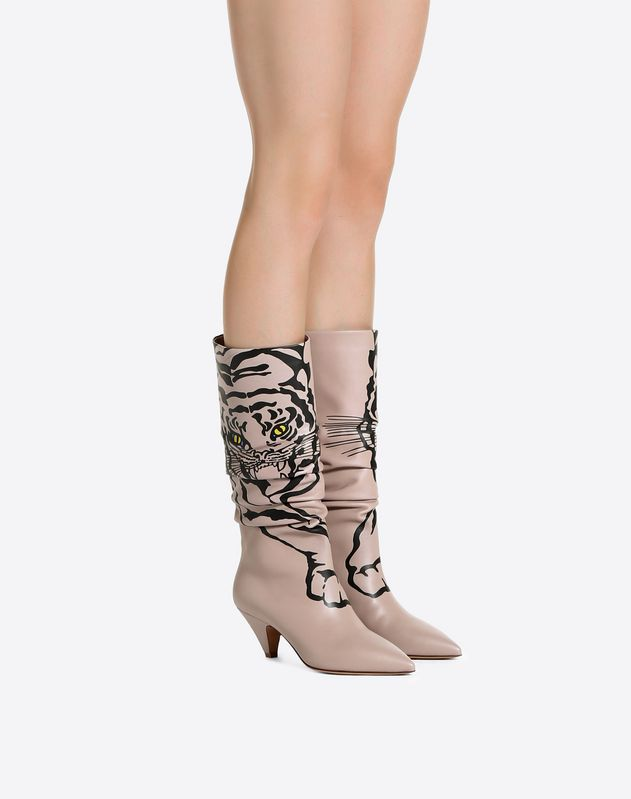 Boot with tiger print