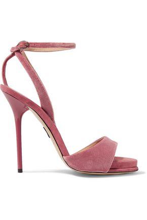 PAUL ANDREW Clara velvet sandals