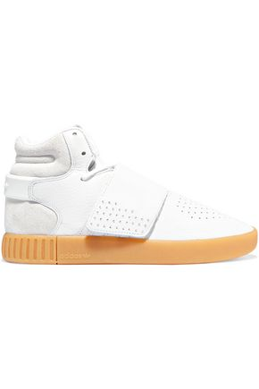 ADIDAS ORIGINALS Perforated leather high-top sneakers