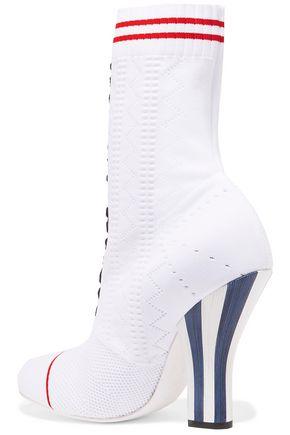 FENDI Pointelle-knit sock boots