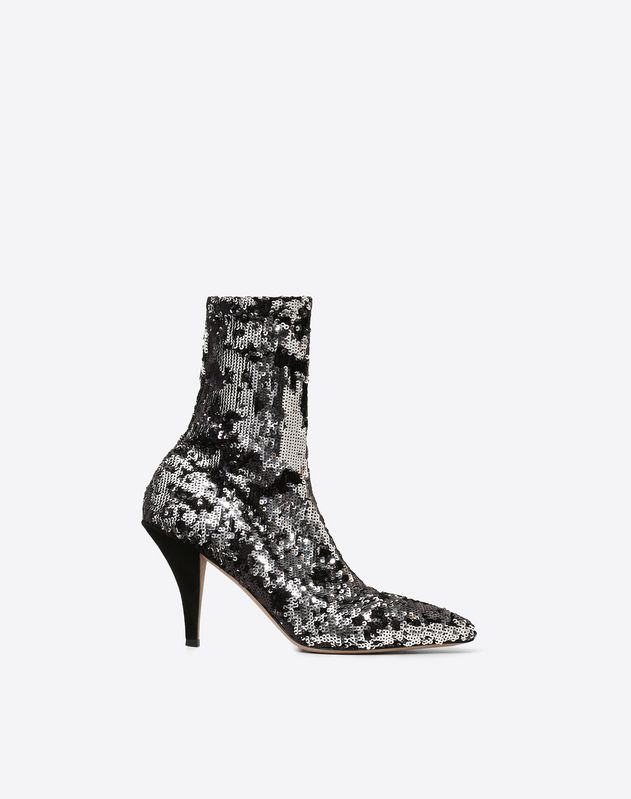 Sequin Fabric Ankle Boot