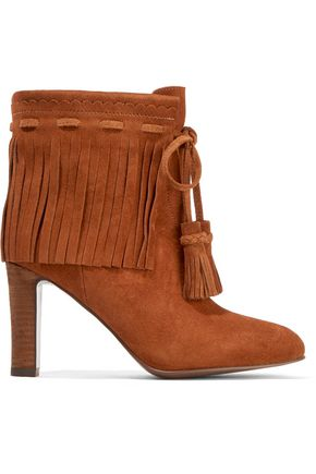7285c3b96d30 SEE BY CHLOÉ Fringed suede ankle boots