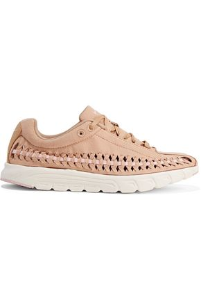 NIKE Mayfly whipstitched suede sneakers