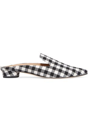 SAM EDELMAN Augustine gingham canvas slippers