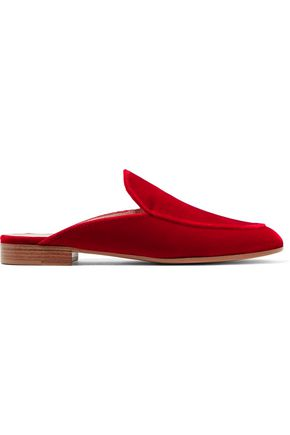 Palau Velvet Slippers by Gianvito Rossi