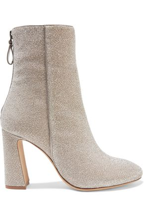 ALEXANDRE BIRMAN Corella metallic stretch-knit ankle boots