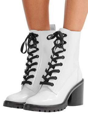 MARC JACOBS Ryder glossed-leather ankle boots