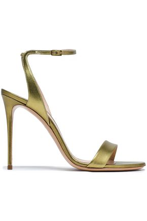 CASADEI Metallic leather sandals