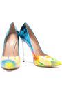 CASADEI Printed glossed leather pumps