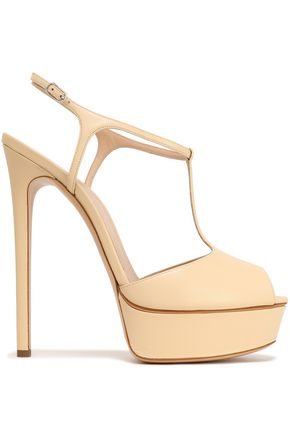 CASADEI Leather T-bar platform sandals