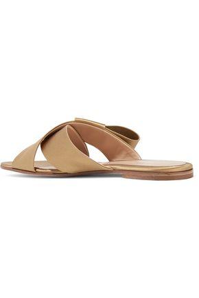 GIANVITO ROSSI Obi bow-embellished satin slides