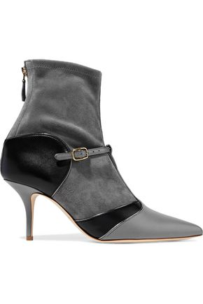 MALONE SOULIERS Sadie two-tone leather and suede ankle boots