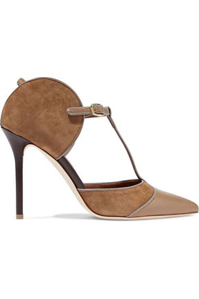 MALONE SOULIERS Imogen suede and leather pumps