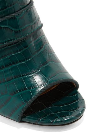 AQUAZZURA Dylan croc-effect leather mules