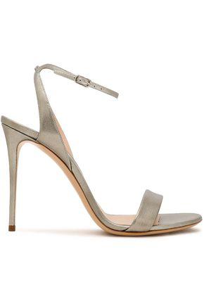 CASADEI Metallic textured-leather sandals