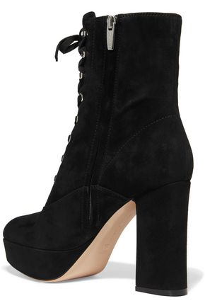 GIANVITO ROSSI Suede platform ankle boots