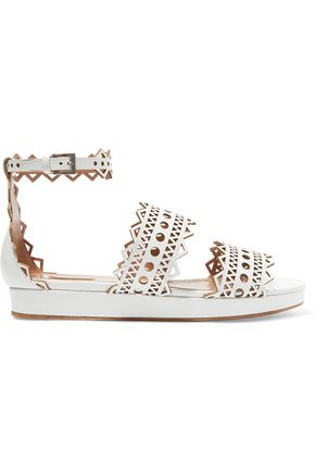 ALAÏA Lase-cut leather sandals
