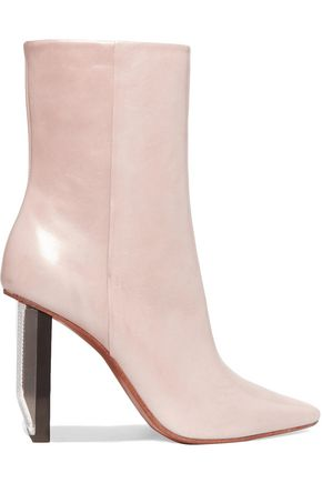 VETEMENTS PVC-trimmed leather ankle boots