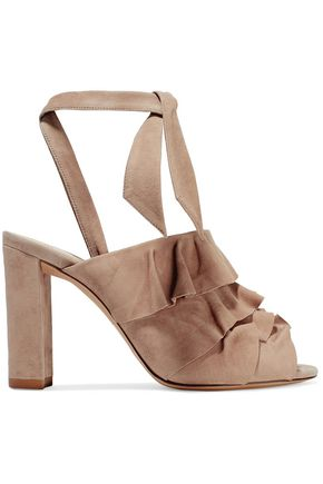 ALEXANDRE BIRMAN Barbara ruffled suede sandals