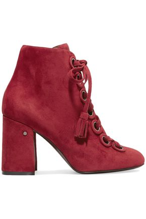 LAURENCE DACADE Paddle lace-up suede ankle boots