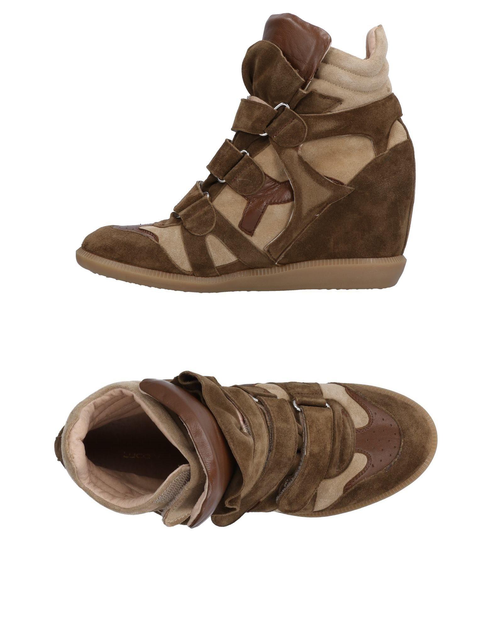 LUCA VALENTINI Sneakers in Dark Green