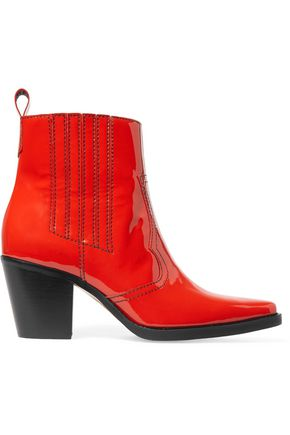 GANNI Patent-leather ankle boots