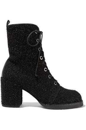 STUART WEITZMAN Metallic bouclé ankle boots
