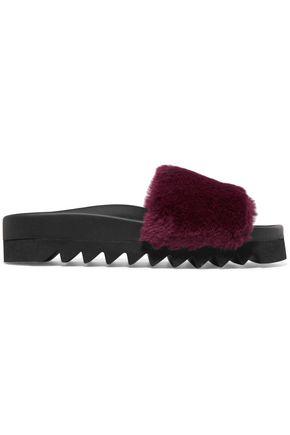 JOSHUA*S Fuxia faux fur slides