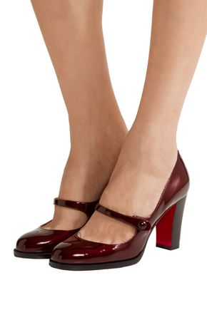 buy popular b7f6b e0cfd Top Street 85 patent-leather Mary Jane pumps | CHRISTIAN ...