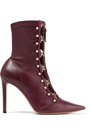 ALTUZARRA Embellished leather ankle boots