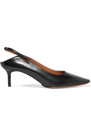 VETEMENTS Leather slingback pumps