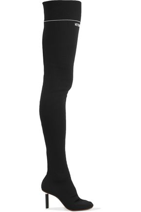 VETEMENTS Stretch-knit thigh boots